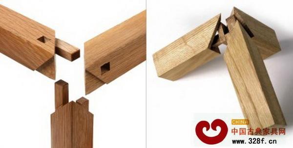 如今这种榫卯结构在红木家具上被广泛应用